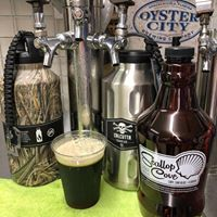 Local tap beer and growler station at Scallop Cove General Store