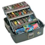 Tackle boxes sold at Scallop Cove Bait and Tackle
