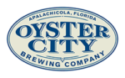 oyster city brewing logo on tap at Scallop Cove local craft beer Growler Station