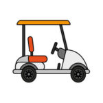 Scallop Cove Too golf cart for rent in Cape San Blas in St Joseph State Park